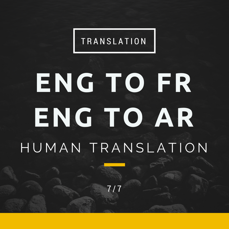 Eng to Fr translation